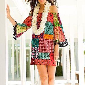 Trina Turk Amaris Shangri La Patchwork Silk Dress